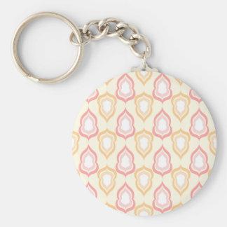 Seamless damask pattern key ring