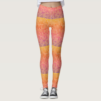 Seamless Easter Egg Wave Leggings