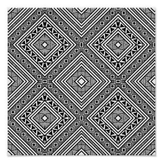 Seamless Ethnic Pattern 2 Poster