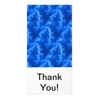 Seamless Fractal Blue Photo Card Template