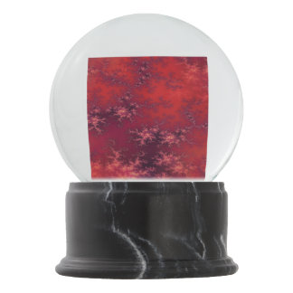 Seamless Fractal Red Snow Globes