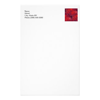Seamless Fractal Red Stationery Design