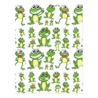 Seamless frog postcard