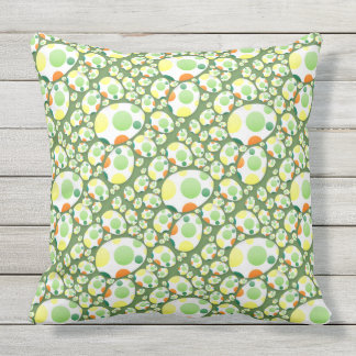 Seamless Happy Easter & Eggs Outdoor Cushion