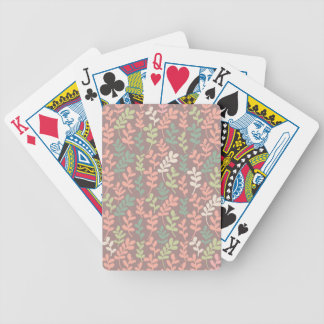 Seamless leaves pattern bicycle playing cards