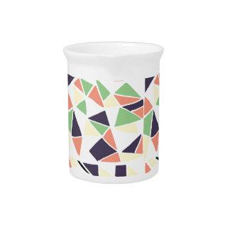 Seamless mosaic pattern triangles. pitcher