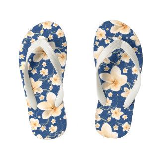 Seamless Pattern Bloom Flowers Kid's Thongs