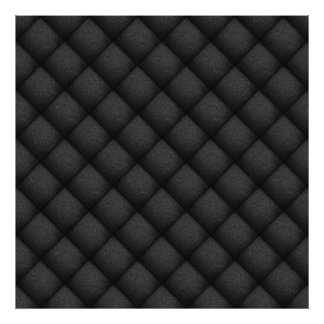 Seamless Pattern Of Black Leather Texture 2 Photo Print