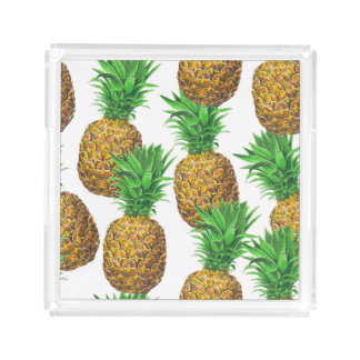 Seamless pattern with pineapples acrylic tray