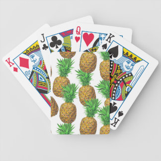 Seamless pattern with pineapples bicycle playing cards