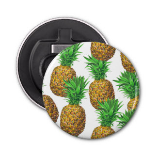 Seamless pattern with pineapples bottle opener