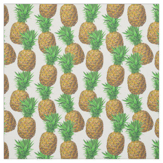 Seamless pattern with pineapples fabric