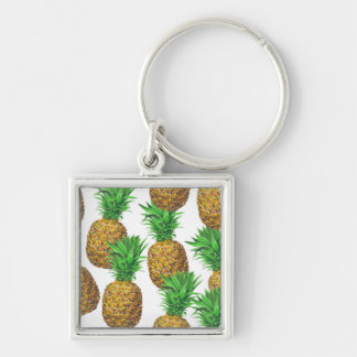 Seamless pattern with pineapples key ring
