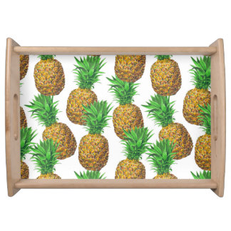 Seamless pattern with pineapples serving tray