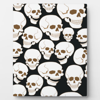 seamless pattern with skulls 3.2 plaque
