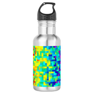 Seamless Pixel Pattern Background as an Artistic 532 Ml Water Bottle