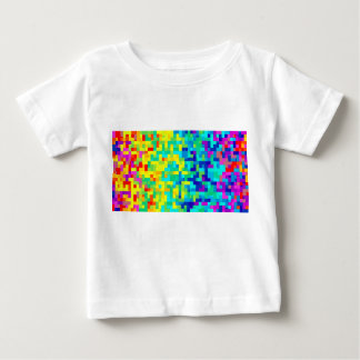 Seamless Pixel Pattern Background as an Artistic Baby T-Shirt