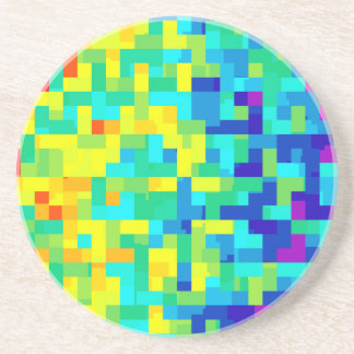 Seamless Pixel Pattern Background as an Artistic Coaster