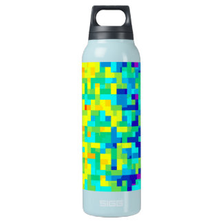 Seamless Pixel Pattern Background as an Artistic Insulated Water Bottle