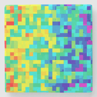 Seamless Pixel Pattern Background as an Artistic Stone Coaster