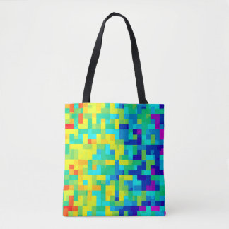 Seamless Pixel Pattern Background as an Artistic Tote Bag