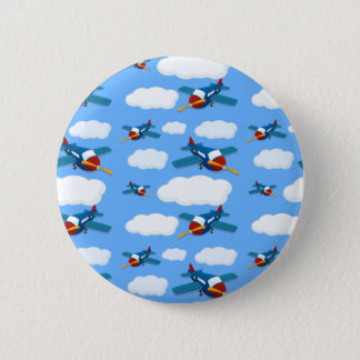 Seamless plane 6 cm round badge
