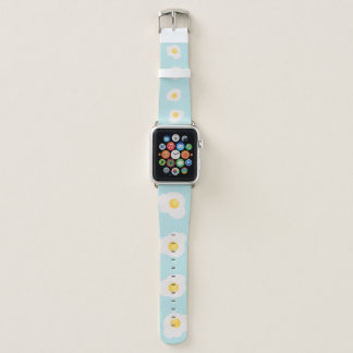 Seamless print of scrambled eggs apple watch band