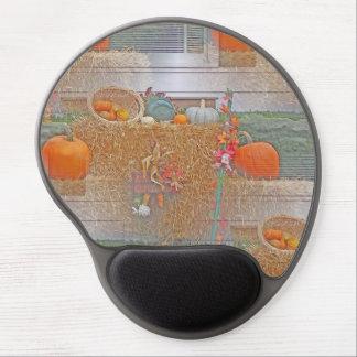 Seamless Pumpkins on Haystack Gel Mouse Pad