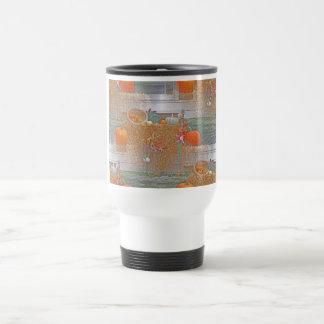 Seamless Pumpkins on Haystack Coffee Mugs