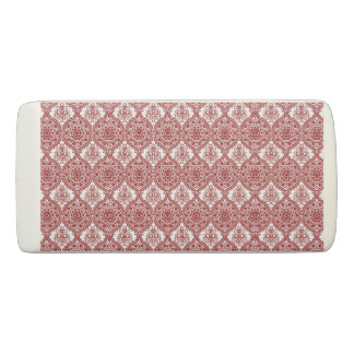 Seamless Red and White Vintage Pattern Eraser