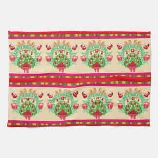 Seamless Santa pattern TeaTowels Kitchen Towels