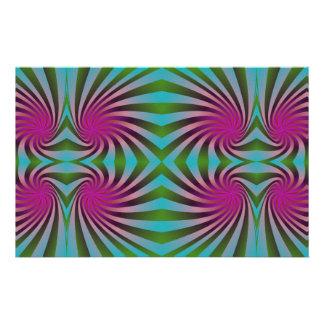 Seamless spiral pattern custom stationery