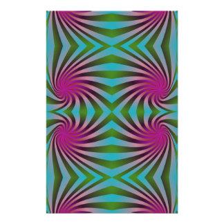 Seamless spiral pattern stationery paper