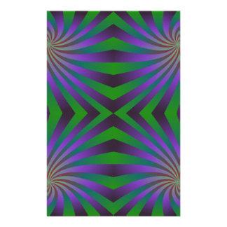 Seamless spiral pattern stationery