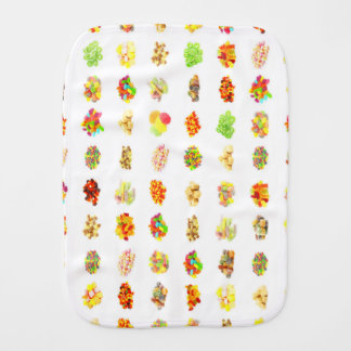 Seamless Sweets and Candy Pattern Background Burp Cloth