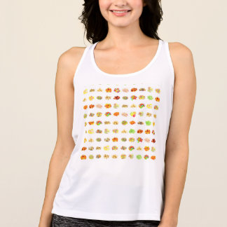 Seamless Sweets and Candy Pattern Background Singlet