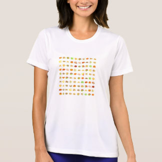 Seamless Sweets and Candy Pattern Background T-Shirt