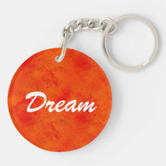 Seamless Texture Background Abstract Orange And Double-Sided Round Acrylic Key Ring
