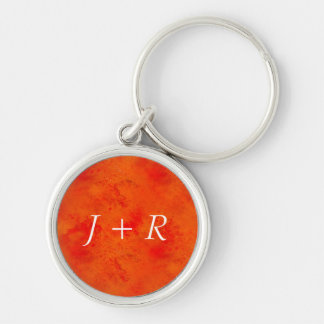 Seamless Texture Background Abstract Orange And Silver-Colored Round Key Ring