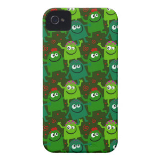 Seamless Tile Doodles iPhone 4 Cover