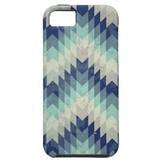 Seamless vector chevron pattern blue iPhone 5 cases