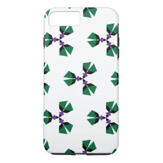Seamless vector pattern in the style of 80's with iPhone 7 plus case