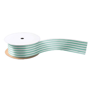 Seamless White Stripes and DIY Background Color Satin Ribbon