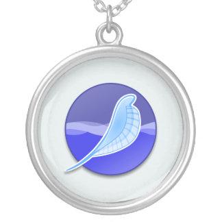 SeaMonkey Logo Round Pendant Necklace