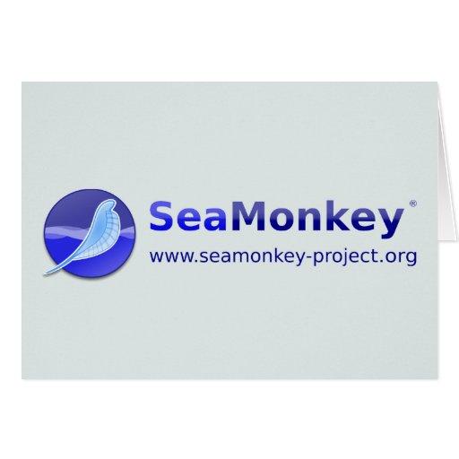 SeaMonkey Project - Horizontal Logo Greeting Card