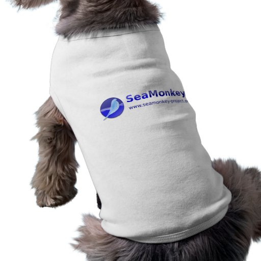 SeaMonkey Project - Horizontal Logo Dog T-shirt