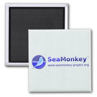 SeaMonkey Project - Horizontal Logo Square Magnet