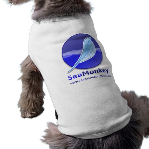 SeaMonkey Project - Vertical Logo Dog T Shirt