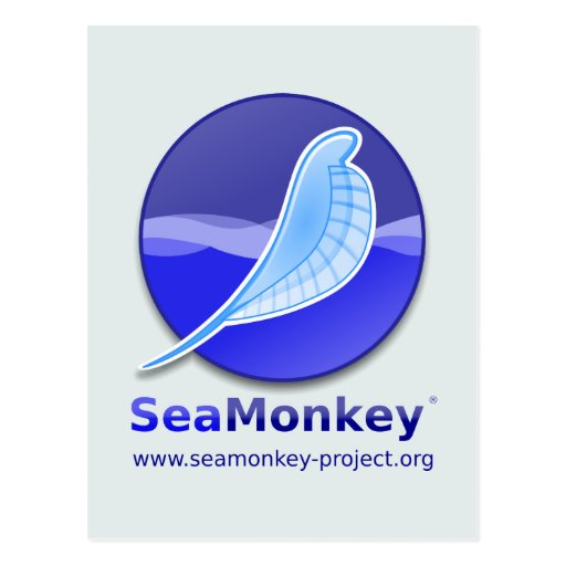 SeaMonkey Project - Vertical Logo Postcards