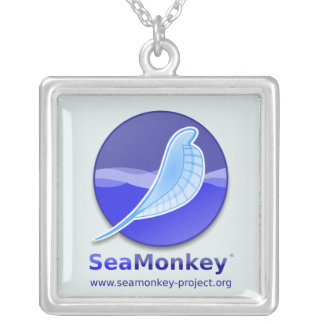 SeaMonkey Project - Vertical Logo Silver Plated Necklace